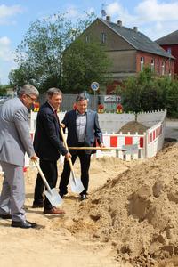 Erster Spatenstich Ausbau der Bahnhofstraße